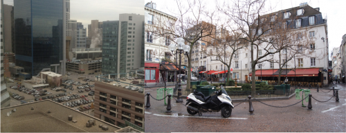 Urban Core Comparisons: Minneapolis to Paris (left image courtesy of Freakonomics)